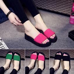 Summer Woman Shoes Platform Slippers Wedge Beach Flip Flops