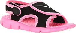 NIKE Kids Baby Girl's Sunray Adjust 4  Black/Digital Pink/Pu