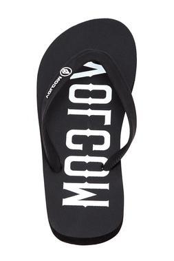 Volcom Surf Brand Men's Rocker Black White Flip Flops Sandal
