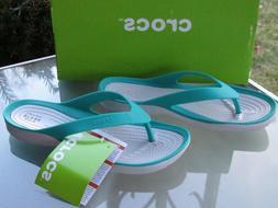 Crocs Swiftwater Flip-Flops Lightweight Sandals, Tropical Te
