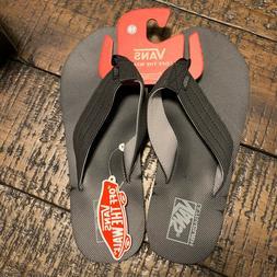 Vans T Street Black/Frost Men's Flip Flops Size 10