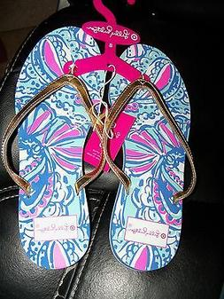 Lilly Pulitzer for Target Women's Size 8 Flip Flops in My Fa