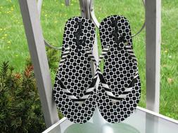 Vera Bradley Textured anti-slip Outsole Flip Flops in White/