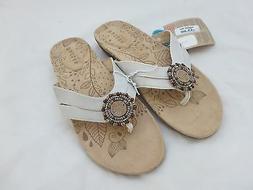 Women's Acorn 'Samoset' Thong Sandal, Size 10 M - White