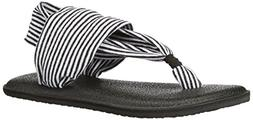 Toddler Girl's Sanuk 'Yoga Sling' Sandal, Size 7/8 M - Black