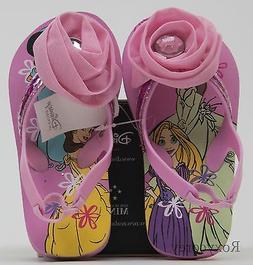 Disney Toddler Girls Pink Flower Princess Thong Flip Flops S