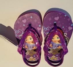 Toddler Girls Disney Princess Sofia Purple Flip Flops elasti