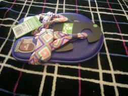 Toddler Girls Purple, Orange & Green Sanuk Yoga Sling Burst