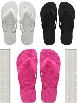 Havaianas Top Flip Flops Brazil Sandals Unisex Sizes -  Blac