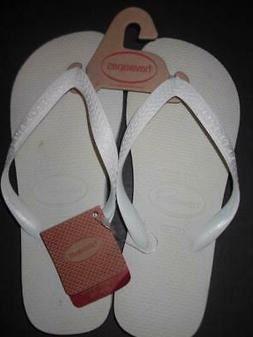 HAVAIANAS TOP WHITE Flip Flops sz BR 39/40 sz US 7-8