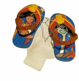 Disney Toy Story 4 Woody Forky Flip Flops for Kids, Blue, si