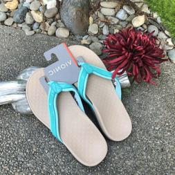 Vionic Turquoise Blue Tide II Toe Post Sandals Flip Flops NE