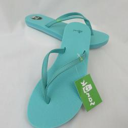 Sanuk Turquoise Yoga Spree Spectrum Flip Flops Sandals Women