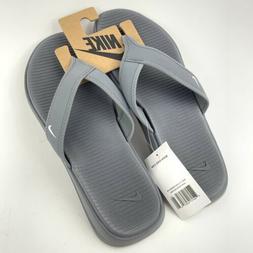 Nike Ultra Celso Thong Men's Sandals Flip Flops Gray White