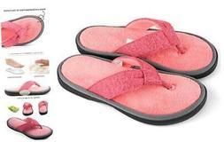 ULTRAIDEAS Women's Adjustable Flip Flop Slippers 9-10 Pink