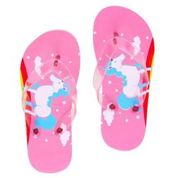 Unicorn & Rainbows Summer Flip Flops for Girls for Pool or B