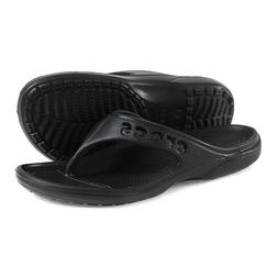 Crocs Unisex Baya Flip Slides Sandals Slipper Black 11999-00