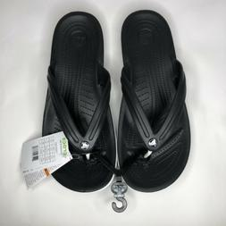 Crocs Unisex Crocband Flip Black 14 Women / 12 Men M US Medi