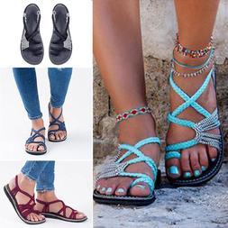 Summer Bohemian Flat Flip Flops Sandals Women Bandages Dress