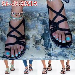 USA Boho Ladies Summer Flat Flip Flops Sandals Girl Bandages