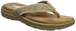 Skechers USA Men's Bosnia Flip-Flop,Tan,10 M US