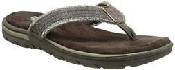 Skechers USA Men's Bosnia Flip-Flop,Chocolate,9 M US