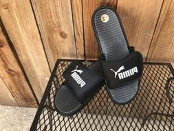 PUMA Velcro Flip Flops NWoT Size 12 Black