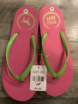 Victorias Secret Pink Flip Flops Sandals Womens Size Medium