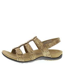 Vionic Amber - Women's Slide Sandal - Orthaheel Gold Cork
