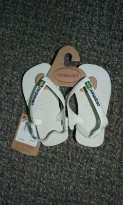Havaianas White Unisex Flip Flops for Kids Toddler Size 6.5C