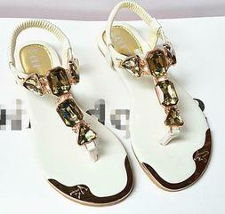 Woman Sandals Fashion High Quality Rhinestone Women Flip Flo