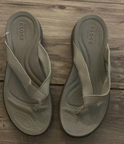 Crocs Womans Flip Flops Size 7 Dual Comfort Capri V Sandals