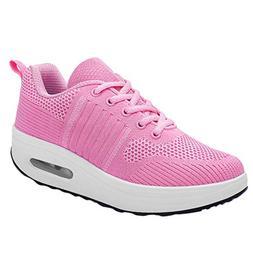Mysky Women Breathable Mixed Colors Mesh Outdoor Sports Shoe
