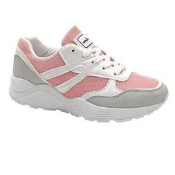 Mysky Women Casual Color Patchwork Lace-Up Sports Shoes Ladi