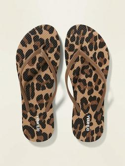 Old Navy Women Classic Patterned Flip Flops - NWT - 5, 6, 7