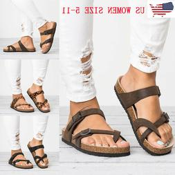 Women Ladies Toe Post Sandals Flip Flops Platform Casual Fla