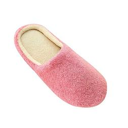 Women Memory Foam Slippers Men Slip-on House Shoes Indoor Ou