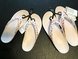 Crocs Women's 6 10 Kadee II Seasonal Flip Flamingos Flip Flo