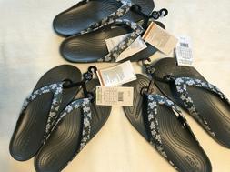 Crocs Women's 7 10 11 Kadee II Seasonal Graphic Flip Flops F
