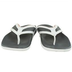 adidas Women's Adilette Flip Flops Grey/White 9