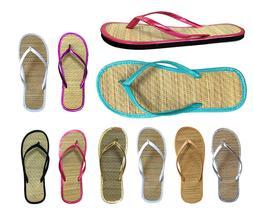 Women's Bamboo Sandal Flip Flops Flats Beach Summer Shoe Com