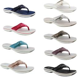 CLARKS WOMEN'S BREEZE SEA LIGHTWEIGHT FLIP-FLOPS