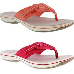 CLARKS WOMEN'S BRINKLEY JAZZ HOOK & LOOP STRAP FLIP-FLOPS