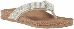 Not Rated Women's Bryce Slide Sandal, Cream, Size 6.0