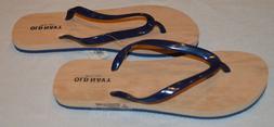 Women's Old Navy Dark Blue Slip On Flip Flops Sandals Size 8