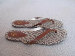 Guess Women's Decorative Signature Flip Flops Size 7 1/2-New