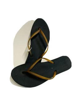 Reef Women's Escape Lux Flip Flop Sandals - Black Tortoise S