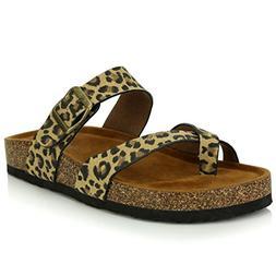 DailyShoes Women's Fashion Flat Thong Strap Buckle Sandal Sh