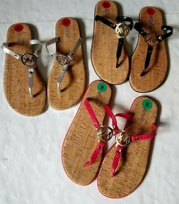 MICHAEL KORS women`s flip flops 1 pair BIG LOGO