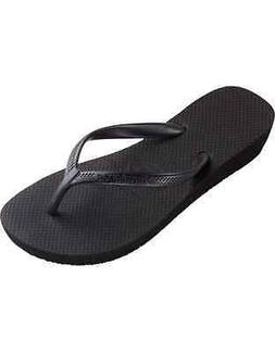 women s flip flops high light black